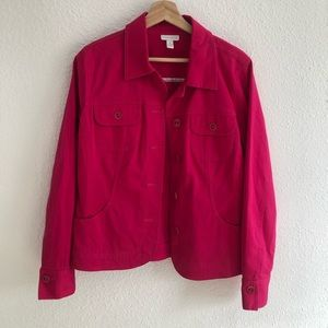 Charter Club women's pink pocketed jacket